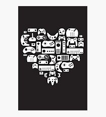 I heart gaming (graphic tees, mugs, and more!) Photographic Print