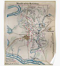 Civil War Maps 0150 Battle of the Antietam Poster