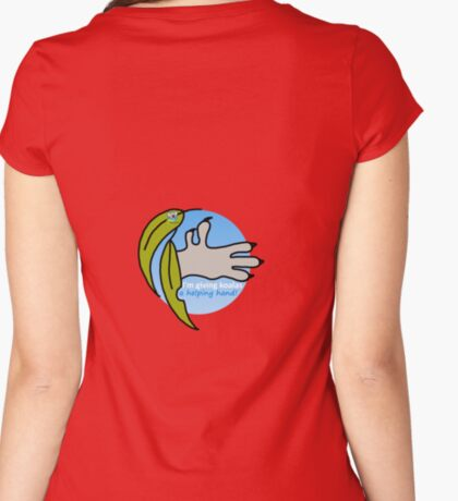 Helping hand - round Fitted Scoop T-Shirt