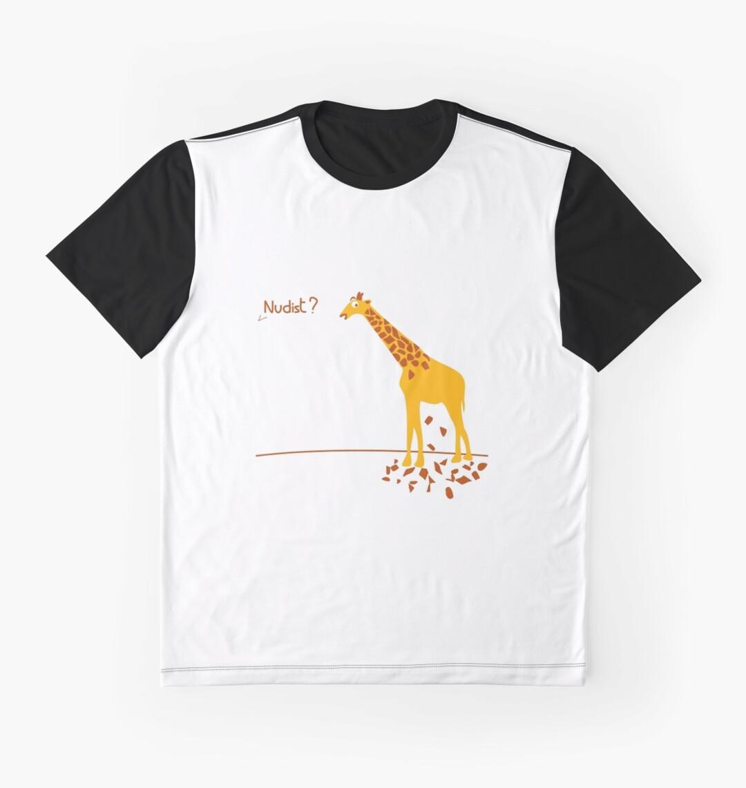 funnynudist funnynudist Funny Nudist Giraffe tshirt