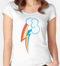 My little Pony - Rainbow Dash Cutie Mark Women's Fitted Scoop T-Shirt