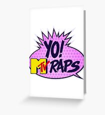Yo MTV Raps Greeting Card