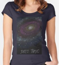 Don't Panic - The Hitchhiker's Guide to the Galaxy Women's Fitted Scoop T-Shirt