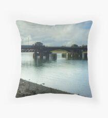 Jubilee Bridge,Barrow-In-Furness Throw Pillow