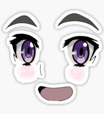 Anime Face Design Sticker