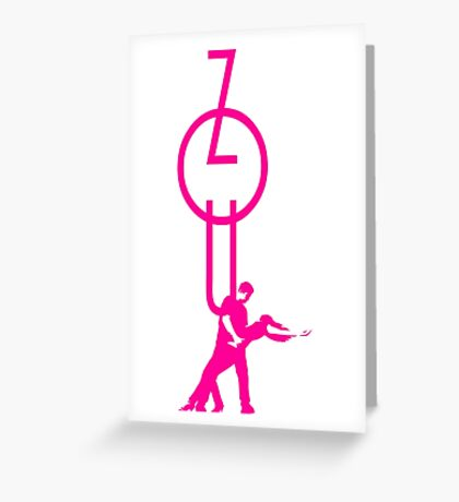 lets dance zouk - pink Greeting Card