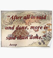 After All Is Said And Done - Aesop Poster