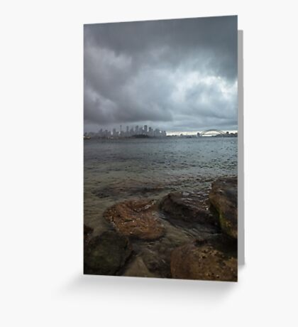 Stormy Harbour Greeting Card