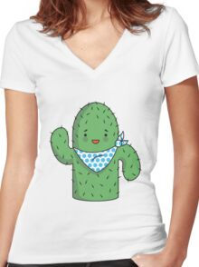 Mr J.G Cactus  Women's Fitted V-Neck T-Shirt