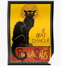 Le Chat D'Amour Love Greeting  Poster