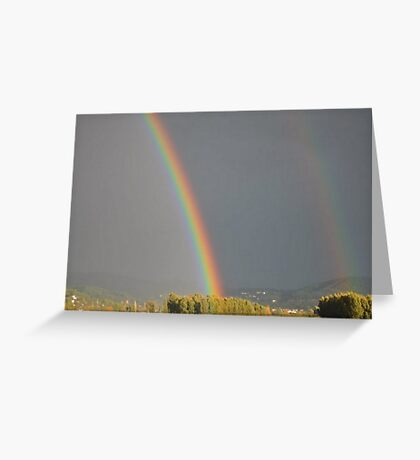 Without The Rain There Would Be No Rainbow Greeting Card