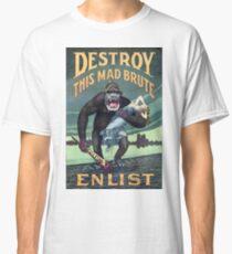 Vintage World War I German Gorilla Propoganda Classic T-Shirt