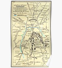 Civil War Maps 0455 Gettysburg battlefield Inverted Poster