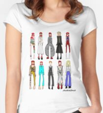 The stages of Bowie Women's Fitted Scoop T-Shirt