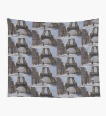 Eiffel tower in the snow Wall Tapestry