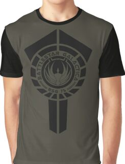 battlestar galactica logo - So Say We All Graphic T-Shirt