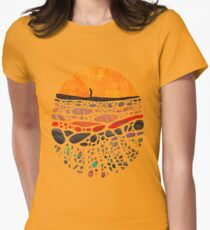 Beneath Womens Fitted T-Shirt