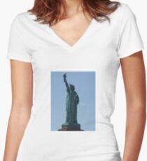 Statue of Liberty Women's Fitted V-Neck T-Shirt