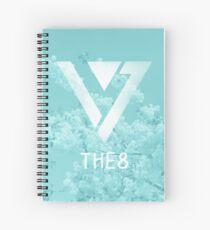 Seventeen The8 - Blue Flowers Spiral Notebook