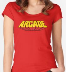 Arcade Yellow Women's Fitted Scoop T-Shirt