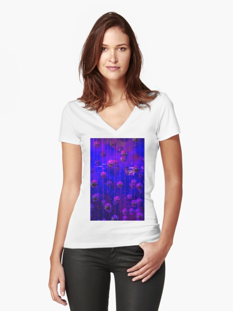 A Picture With Balls Women's Fitted V-Neck T-Shirt Front