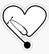 Heart Stethoscope Sticker