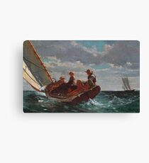 Breezing Up (A Fair Wind) by Winslow Homer (1873 - 1876) Canvas Print