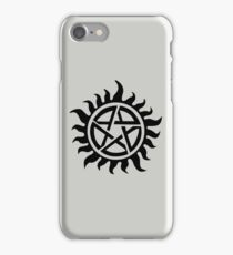 Supernatural Demon Possession Protection [BLACK] iPhone Case/Skin