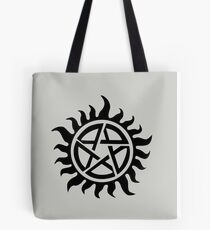 Supernatural Demon Possession Protection [BLACK] Tote Bag