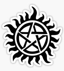 Supernatural Demon Possession Protection [BLACK] Sticker