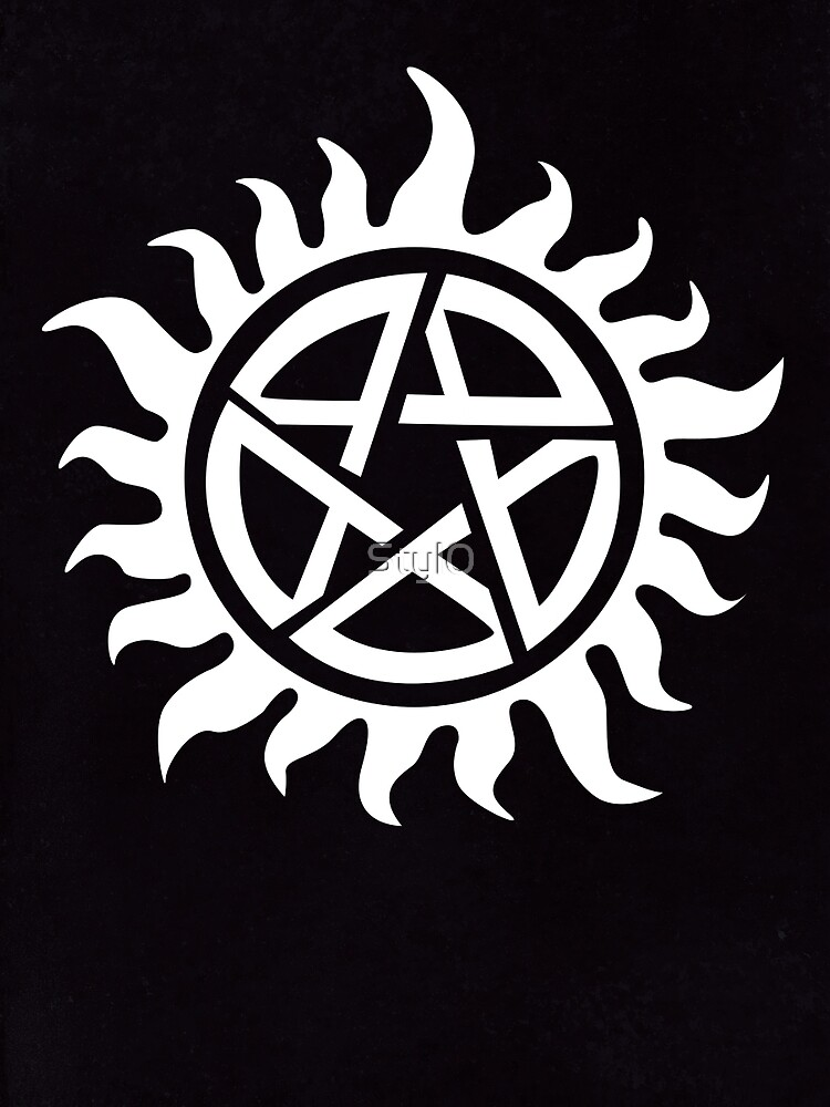 Supernatural Demon Possession Protection White Graphic T Shirt By