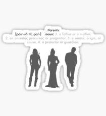 SwanFireQueen + Parents definition Sticker
