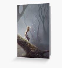 Lost With Fireflies Greeting Card