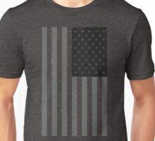 American Flag - Black and White Unisex T-Shirt