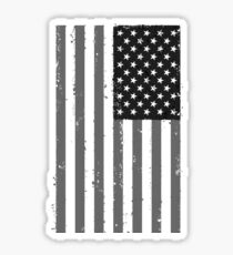 American Flag - Black and White Sticker