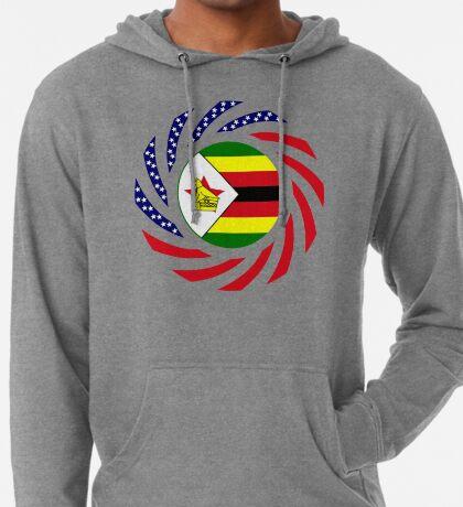 Zimbabwean American Multinational Patriot Flag Series Lightweight Hoodie