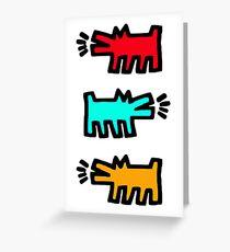 HARING Greeting Card