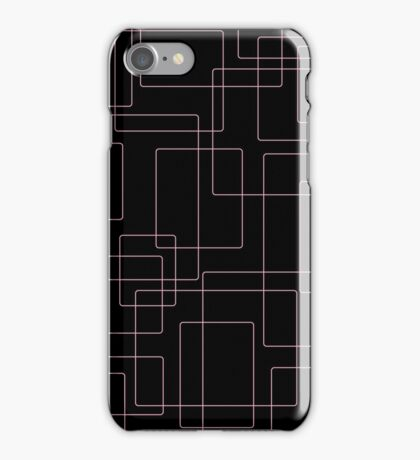 Pink boxes on black iPhone Case/Skin