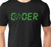 C</>der - Green Digial Font Design for People who Write Code Unisex T-Shirt
