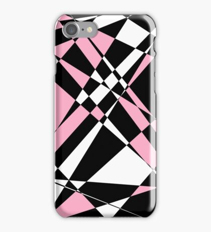 Pink black and white polygon iPhone Case/Skin