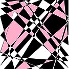 Pink black and white polygon by tdhanshew