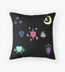 My little Pony - Sparkle Family Cutie Mark Special V2 (Nyx) Throw Pillow