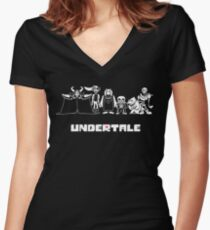 Undertale Family Women's Fitted V-Neck T-Shirt