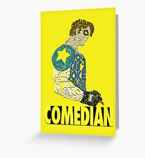 Watchmen - The Comedian - Typography  Greeting Card