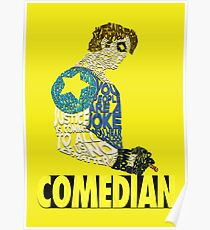 Watchmen - The Comedian - Typography  Poster