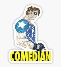 Watchmen - The Comedian - Typography  Sticker