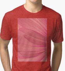 Pink Cosmo Petals Macro  Tri-blend T-Shirt