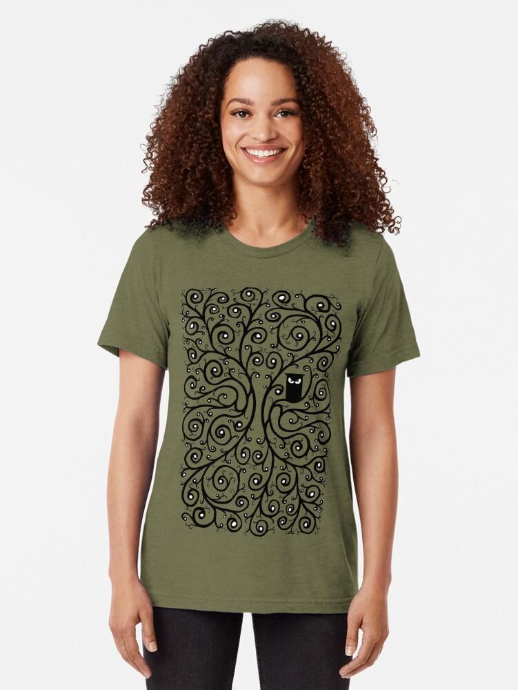 Alternative Ansicht von Die Eule Vintage T-Shirt
