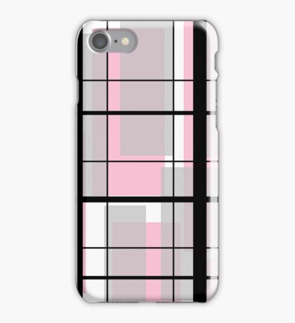 Pink and black Mondrian-esque iPhone Case/Skin