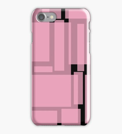 Translucent pink boxes iPhone Case/Skin